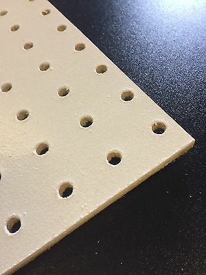 White Wooden Pegboard 600 x 600 x 6mm 25.4mm hole centres with 6mm holes