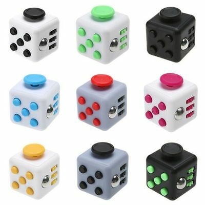 11-Color Magic Fidget Cube Children Toy Adults Fun Stress Relief Cubes Xmas Gift