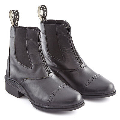 Brogini paddock boots with front zip Brown