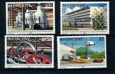 St Vincent 1982 Sugar Industry opt Specimen MNH