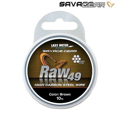 Savage Gear Raw 49 Strand High Carbon Steel Wire 10M Pike Fishing