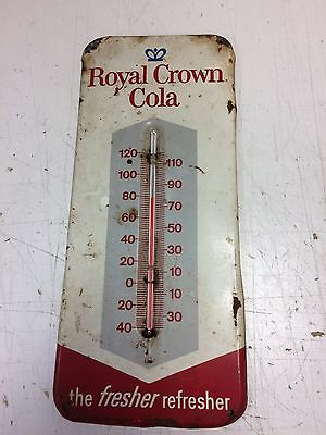 Vintage RC Royal Crown Cola Tin Thermometer