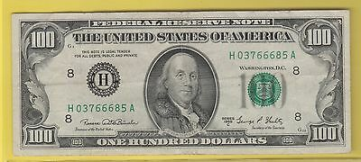 1969 C Federal Reserve Note One Hundred Dollar Bill...vf++..$100.00...685