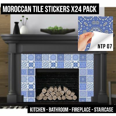 Tile Cover Up Sticker Decal For Bathroom Kitchen Fireplace Self Adhesive NTP07