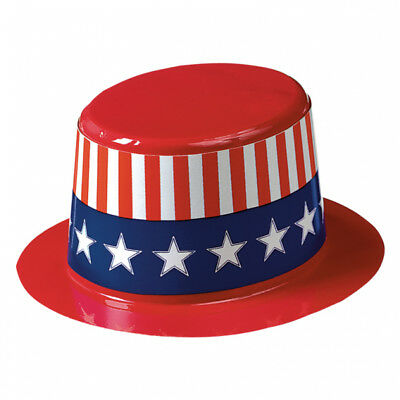 USA 4th July Mini Plastic Top Hats x 6