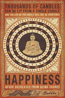NEW * THOUSANDS OF CANDLES *  BUDDHISM HAPPINESS MAXI POSTER 62cm X 91cm ...no80