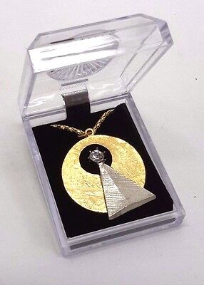 "Star Trek Vulcan IDIC Medallion 1-1/2""  Pendant w/ 24"" Chain in Deluxe Box"