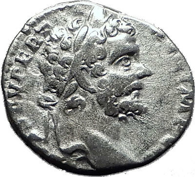 SEPTIMIUS SEVERUS 193AD Authentic Ancient Silver Roman Coin MARS WAR  i60446