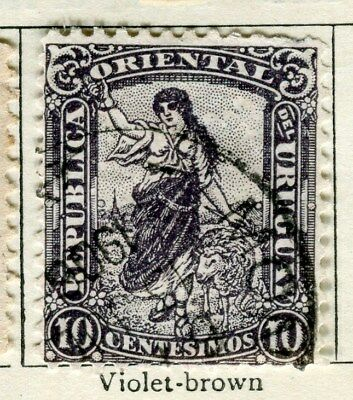 URUGUAY;  1904 early pictorial issue fine used  10c. value