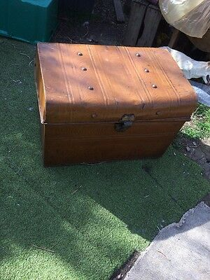 Vintage  Industrial Metal Storage Box Coffee Table Chest Trunk