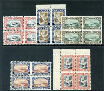 British Guiana 1898 QV Jubilee set complete in blocks superb MNH. SG 216-221.