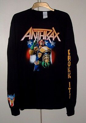 Anthrax - Judge Dredd - Drokk It! - Long Sleeve T-Shirt - Size Large - Rare