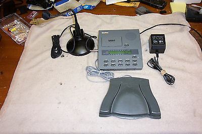 Dictaphone BY DICTAPHONE MODEL3750 Micro cassette hands free unit W/ Accessories