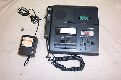 Dictaphone BY SONY MODELBM - 850 Micro cassette Dictation unit W/ Accessories