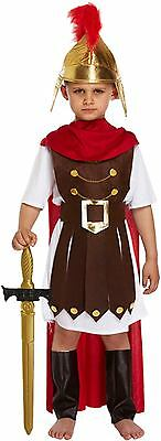 Boys Roman General Fancy Dress Costume Outfit Historical Costume Age 4-12 New