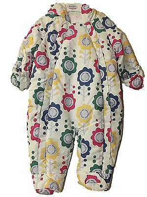 NEW BOYS GIRLS EX M & S STORMWEAR ALL IN ONE FLEECE LINED SNOW SUIT 3- 18 months