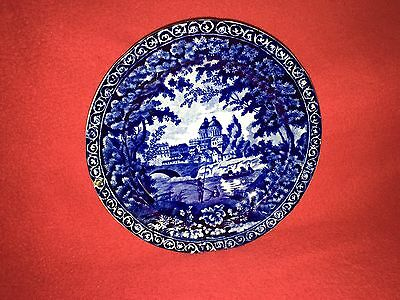Historical Staffordshire Dark Blue English Plate By Clews Ca. 1825