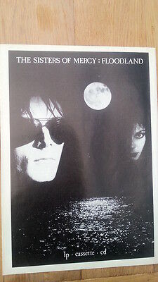SISTERS OF MERCY Floodland 1987 UK magazine ADVERT/Poster/clipping 11x8 inches