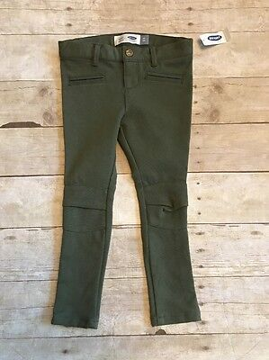 Old Navy Girls Size 4 4T Olive Green Pants Bottoms NEW NWT