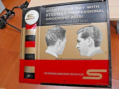 Stephan Professional Grooming Aids Pro Barber Shop Metal Sign Usa Very Nice