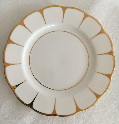 Royal Vale Gold and White  Plate c1950