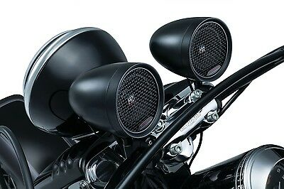 "Kuryakyn RoadThunder Speaker Pods by MTX Satin Black 5 AMP for  7/8"" & 1"" Bars"