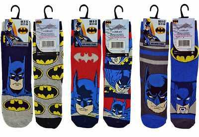 6-PAIRS-of-Kids-Boys BATMAN Character-Novelty-Socks.