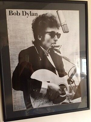 Signed Autograph Bob Dylan Large Poster