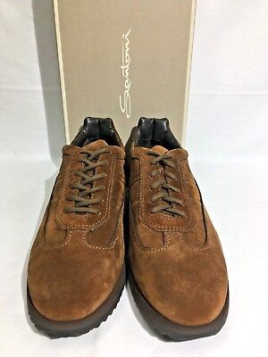 Santoni Mens ITALIAN MADE Brown Suede 100/%Authentic New In Box USA Seller