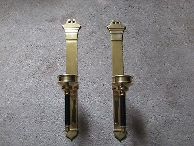 "TWO  26"" solid brass SCONCES EXCOND 7LBS EA. VINTAGE SCONCES HOME DECOR LIGHTING"