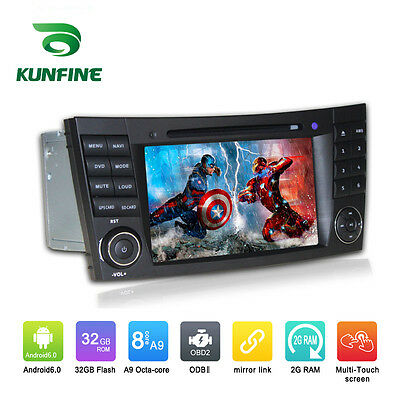 Android 6.0 Octa Core Car Stereo DVD GPS Navigation Player For Benz E-Class W211