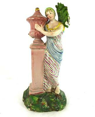 C1800 Antique Staffordshire Pearlware Figure Charlotte  At The Tomb Of Werther