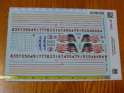 Microscale Decal #87-1402 Union Pacific (UP) SD70ACa and ES44AC (w/US Flag)