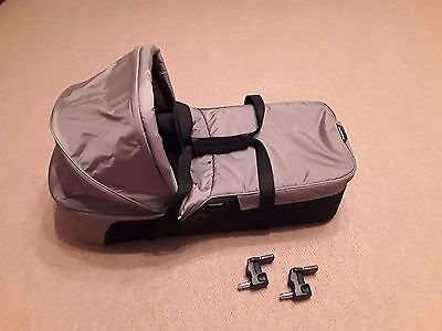Baby Jogger City Mini compact carrycot and adapters. WEST SUSSEX