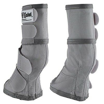 Cashel Fly Boots - Silver/Grey -  Weanling, Pony, Cob, Horse & Warmblood