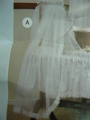 Sweet Dreams Bassinet Cradle Baby Net Veil Cream N2