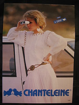 Paper Knitting Pattern ~ Vintage 80s Chanteleine 26 Ladies Sweater Jumper Cable