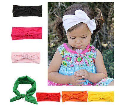 Baby Toddler Girl Kid Bunny Rabbit Bow Knot Turban Headband Hair Band HeadwrapSL