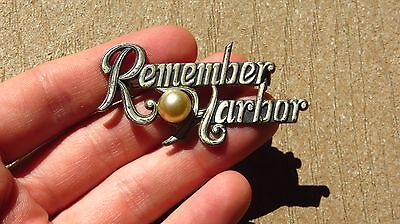 Remember Pearl Harbor Commemorative Pin WW2 US MILITARY HOME FRONT Brooch Sterl.