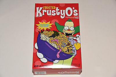 1 New Box of The Simpsons cartoon Frosted KrustyO's Cereal Krusty O's clown