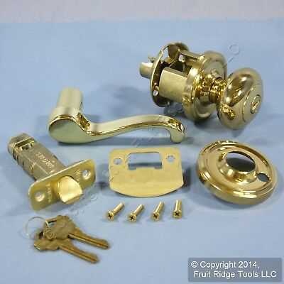 RIGHT Weslock Traditonale Impresa 640 Polished Brass Keylock Knob Calais Latch