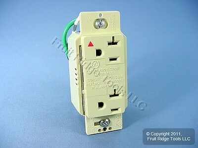 Cooper Ivory ISOLATED GROUND TVSS SURGE Receptacle Outlet NEMA 5-20R 20A IG1210V