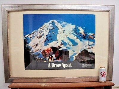 Vintage Seattle Rainier Beer Poster Breweriana 1970S Nos Collection #17