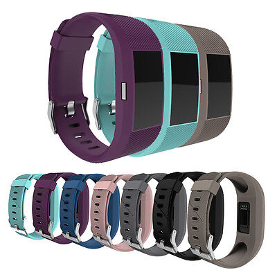 UK Stock Watch Soft Strap For Fitbit Charge 2 Replacement Band Bracelet Silicone