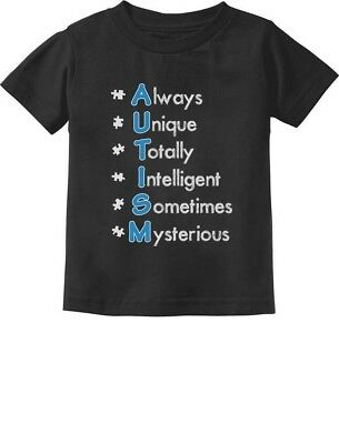 Autism Always Unique - Autism Awareness Toddler/Infant Kids T-Shirt Support The