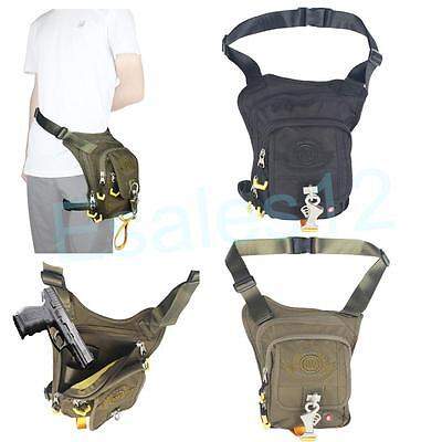 Tactical Hunting Shooting Gun Holster Bag Concealed Carry Fanny Pack Leg Bag