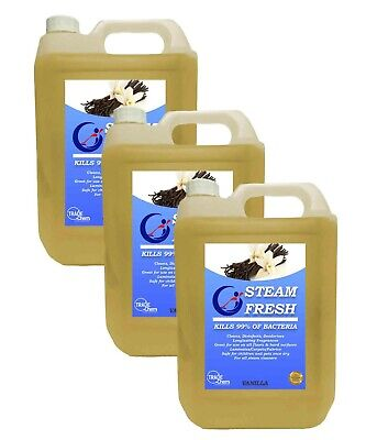STEAM CLEANING DETERGENT SOLUTION - CLEANER FLUID - VANILLA 15L Pack