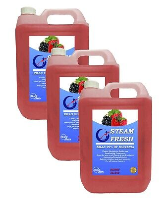 STEAM CLEANING DETERGENT SOLUTION - CLEANER FLUID - BERRY 15L Pack