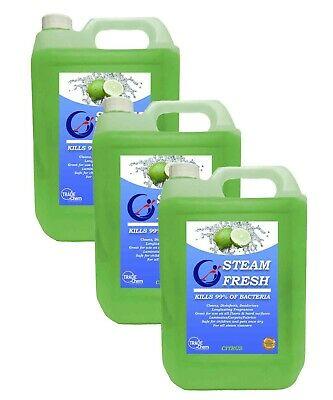STEAM CLEANING DETERGENT SOLUTION - CLEANER FLUID - CITRUS 15L Pack