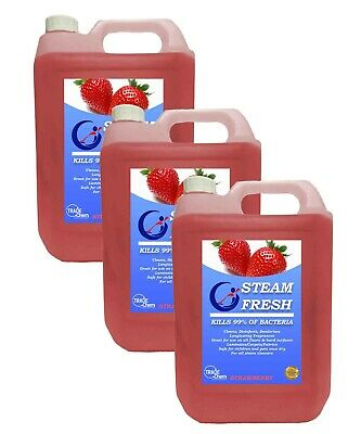 STEAM CLEANING DETERGENT SOLUTION - CLEANER FLUID -  STRAWBERRY 15L Pack